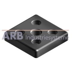 Transport- und Fußplatte 5 40x40, M10  schwarz