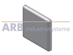 Abdeckkappe 8 40x40  grau ähnlich RAL 7042