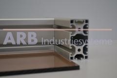 Acrylglas 4mm, beidseitig satiniert  rauchfarben getönt (Pl