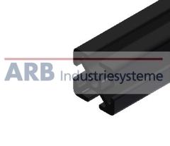Profil 5 20x20  schwarz (Zuschnittware)
