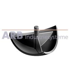 Verbinder-Abdeckkappe 5 R20-90°  schwarz