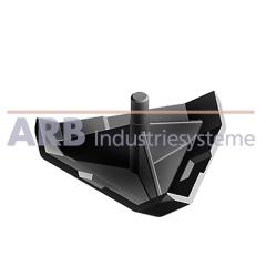 Verbinder-Abdeckkappe 6 30x30-45°  schwarz