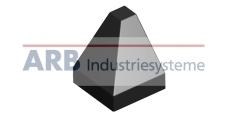 Verbinder-Abdeckkappe 8 40x40-2x45°  schwarz