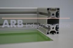 Blech Al 2mm  polyesterbeschichtet, grün ähnlich RAL6011