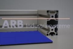 Vollkunststoff 4mm  blau ähnlich RAL 5024