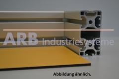 Vollkunststoff 4mm  gelb ähnlich RAL 1034