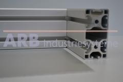 Vollkunststoff 4mm  grau ähnlich RAL 7030
