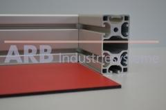 Vollkunststoff 4mm  rot ähnlich RAL 3000