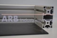 Vollkunststoff 4mm  schwarz ähnlich RAL 9017