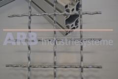 Wellengitter Al 4mm 30x30  naturfarben eloxiert