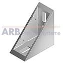 Winkel 6 60x60 Zn  weißaluminium ähnlich RAL 9006