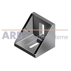 Winkel 8 40x40 Zn  weißaluminium ähnlich RAL 9006