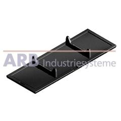 Winkel-Abdeckkappe 8 80x80  schwarz